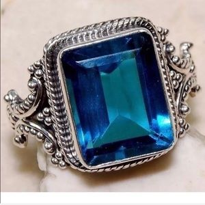 timeless design c25bf b2a17 Jewelry - Sapphire Vintage style ring size 7 1 2